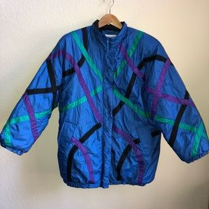 Vtg Haband for Her XL Nylon Poly Fill Snow Jacket